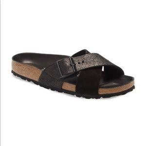 Birkenstock Siena Hex Black Suede Sandal